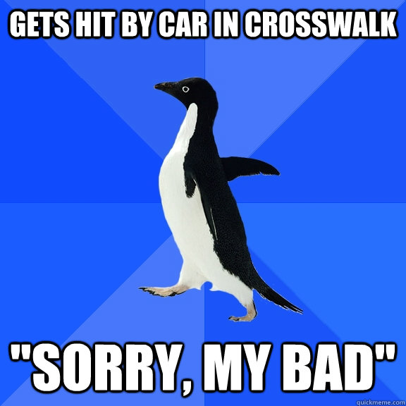 Gets hit by car in crosswalk