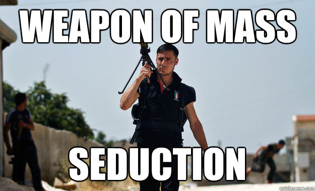 Weapon of mass Seduction - Weapon of mass Seduction  Ridiculously Photogenic Syrian Soldier