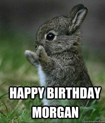 HAPPY BIRTHDAY  MOrgan
