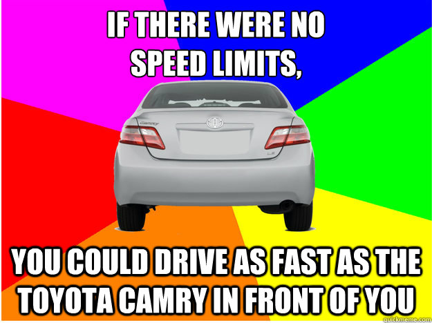7446270d4675defd04cae50b5445aed60bd79e44aae4bf045979b8884e6888d5 if there were no speed limits, you could drive as fast as the