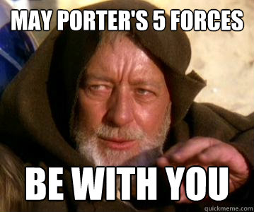 may porter's 5 forces be with you