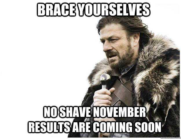 Brace yourselves no shave november results are coming soon - Brace yourselves no shave november results are coming soon  Imminent Ned
