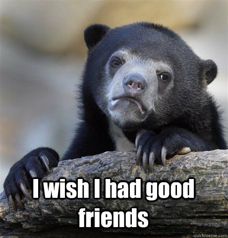 I wish I had good friends -  I wish I had good friends  Misc