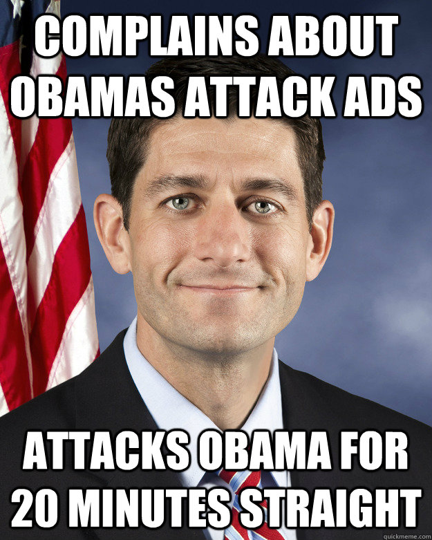 COMPLAINS ABOUT OBAMAS ATTACK ADS ATTACKS OBAMA FOR 20 MINUTES STRAIGHT