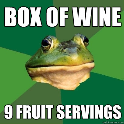 BOX of Wine 9 Fruit Servings - BOX of Wine 9 Fruit Servings  Foul Bachelor Frog