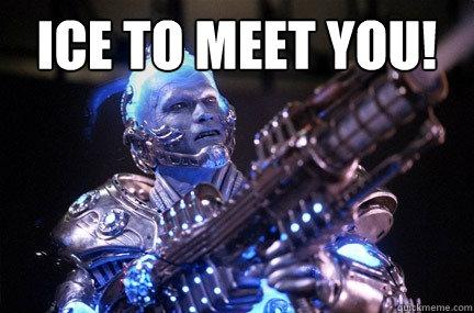 Ice to meet you!   Bad Pun Mr Freeze