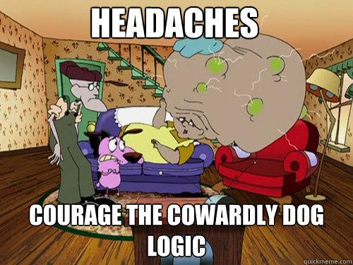 HEADACHES COURAGE THE COWARDLY DOG  LOGIC - HEADACHES COURAGE THE COWARDLY DOG  LOGIC  Misc