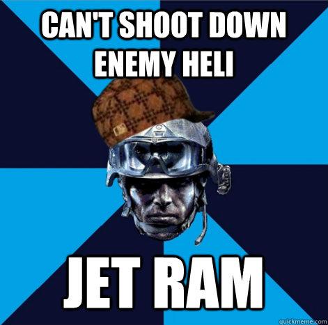 Can't shoot down enemy heli jet ram