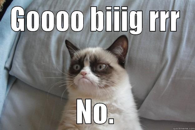 GOOOO BIIIG RRR NO. Grumpy Cat