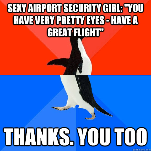 Sexy airport security girl: