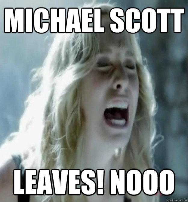 Michael Scott Leaves! nooo