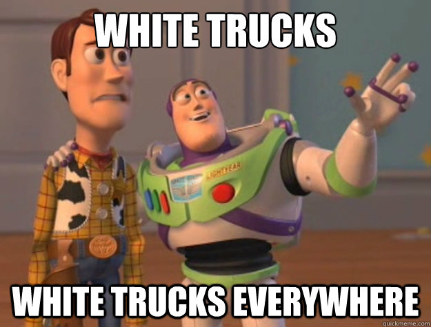 white trucks white trucks everywhere - white trucks white trucks everywhere  Toy Story