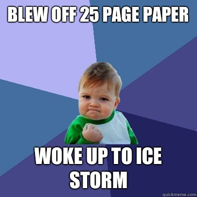 ice storm research papers 21122013  is this ice storm expected to be as bad as the ice storm of 1998 a look at the two storms: how they are similar, and how they differ.