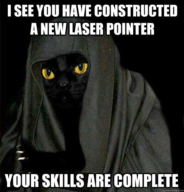 I see you have constructed a new laser pointer Your skills are complete
