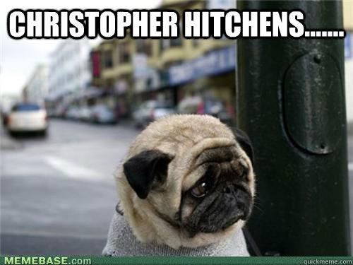 Christopher Hitchens.......   Sad pug is sad
