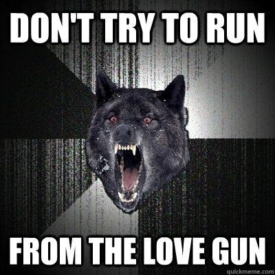 Don't try to run From the love gun
