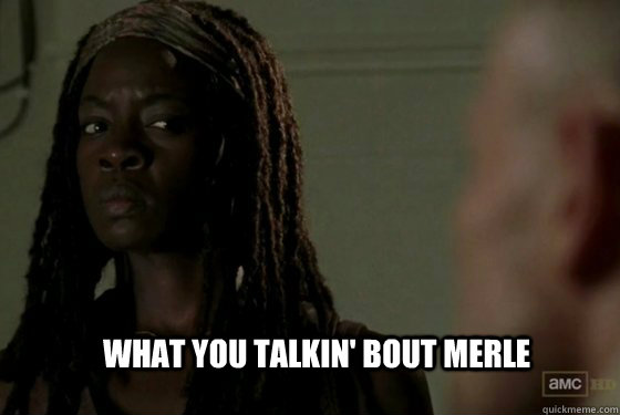What you talkin' bout merle - What you talkin' bout merle  Michonne Coleman