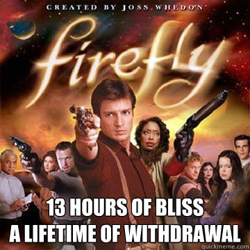 13 hours of bliss a lifetime of withdrawal  Firefly speaks Chinese