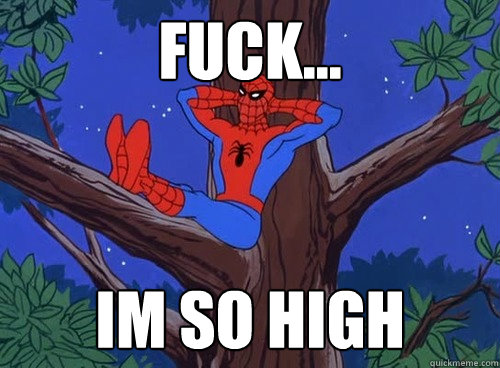 Fuck... IM so high - Fuck... IM so high  Spider man