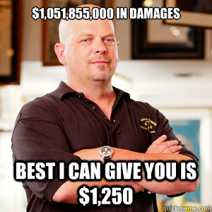 $1,051,855,000 In damages Best I can give you is $1,250