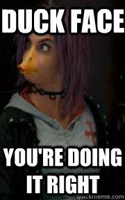 duck face youre doing it right nymphadora tonks quickmeme