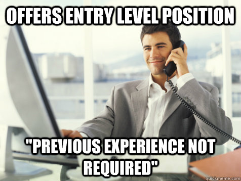 OFFERS ENTRY LEVEL POSITION