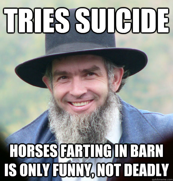 75e8275d022a4f8eada58fe5b5a2209d739e1793b3f699d24e13e18b47d353f3 tries suicide horses farting in barn is only funny, not deadly,Funny Barn Memes