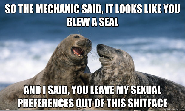 Penguin joke blew a seal