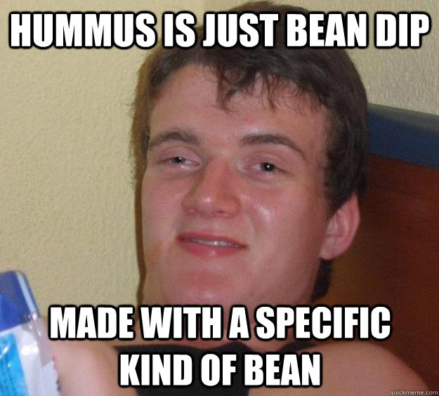 Hummus Is Just Bean Dip Made With A Specific Kind Of Bean 10 Guy