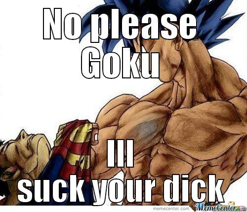 NO PLEASE GOKU ILL SUCK YOUR DICK Misc