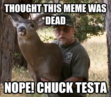 Thought this meme was dead Nope! chuck testa - Thought this meme was dead Nope! chuck testa  Chuck Testa