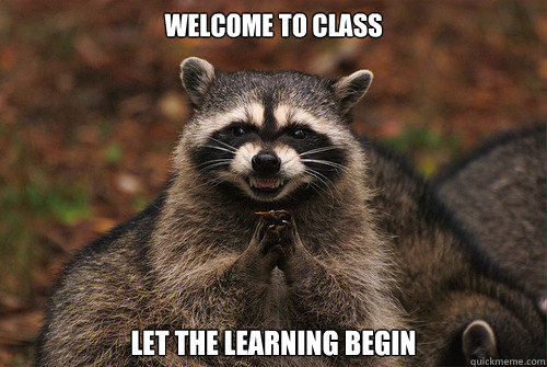 Welcome to class Let the learning begin - Welcome to class Let the learning begin  Insidious Racoon 2