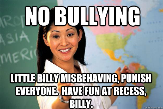 No Bullying Little Billy Misbehaving Punish Everyone Have Fun At