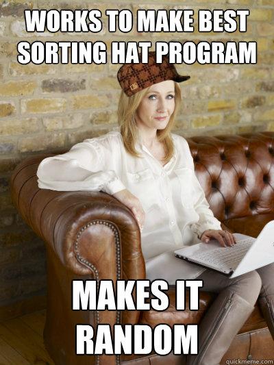 works to make best sorting hat program makes it random