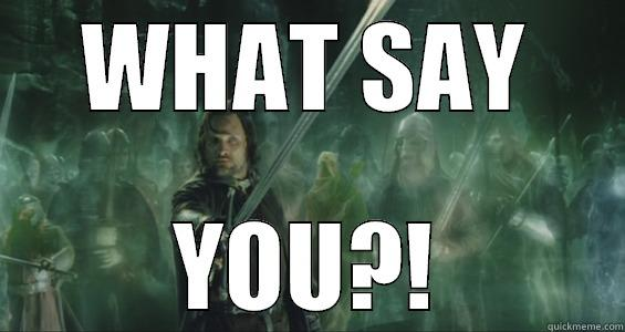 Aragorn and dem ghosts - WHAT SAY YOU?! Misc