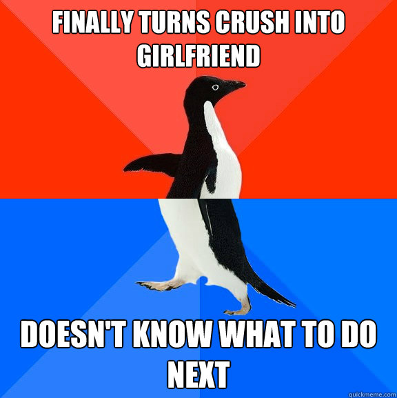 Finally turns crush into girlfriend Doesn't know what to do next - Finally turns crush into girlfriend Doesn't know what to do next  Socially Awesome Awkward Penguin