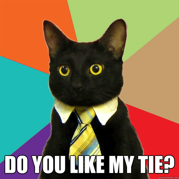 Do you like my tie? -  Do you like my tie?  Business Cat