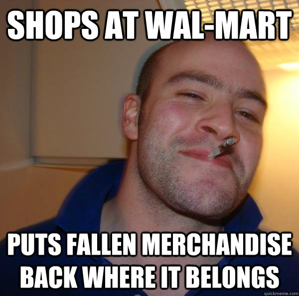 shops at wal-mart puts fallen merchandise back where it belongs - shops at wal-mart puts fallen merchandise back where it belongs  Misc