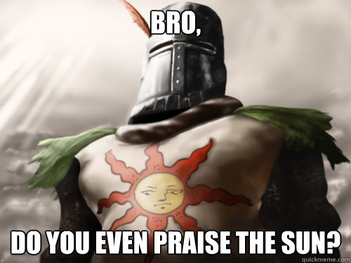 Bro,  do you even praise the sun?  Dark Souls