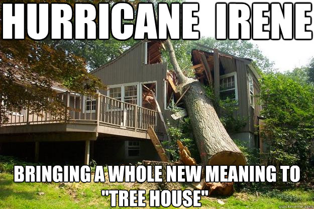 hurricane  irene Bringing a whole new meaning to