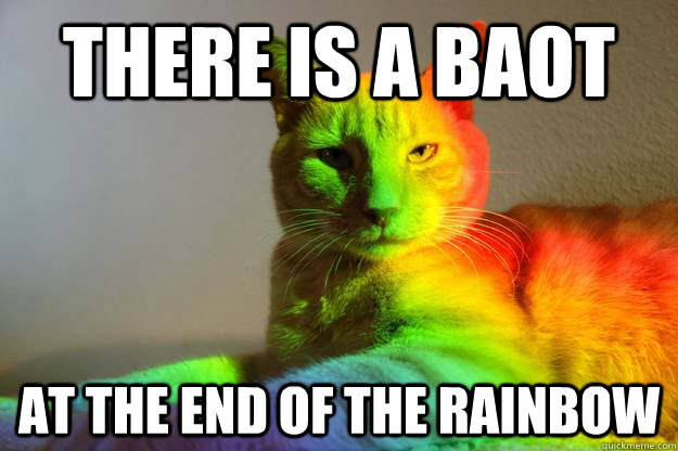 There is a baot at the end of the Rainbow - There is a baot at the end of the Rainbow  Rainbow Cat