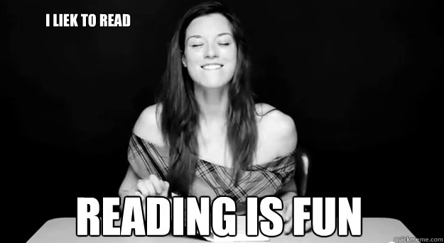 I liek To read Reading is fun