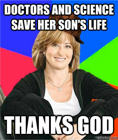 Doctors and science save her son's life Thanks God