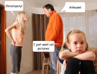 Christianity! Atheism! I just want cat pictures.