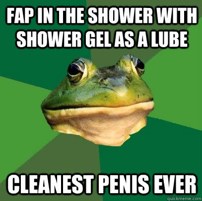 fap in the shower with shower gel as a lube cleanest penis ever - fap in the shower with shower gel as a lube cleanest penis ever  Foul Bachelor Frog