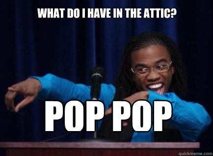 What do I have in the attic? POP POP