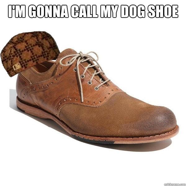 I'm gonna call my dog shoe