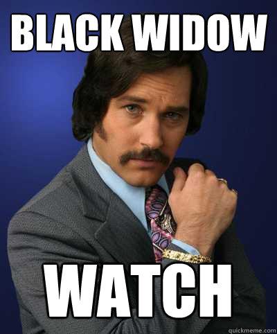 Black Widow WATCH - Black Widow WATCH  Brian Fantana