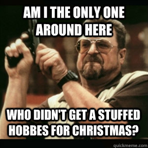 Am i the only one around here Who didn't get a stuffed Hobbes for Christmas? - Am i the only one around here Who didn't get a stuffed Hobbes for Christmas?  Misc