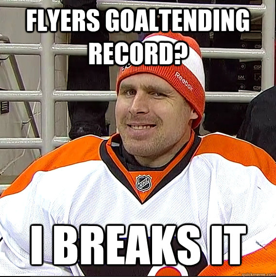 Flyers goaltending record? I breaks it  Ilya Bryzgalov Solid Guy